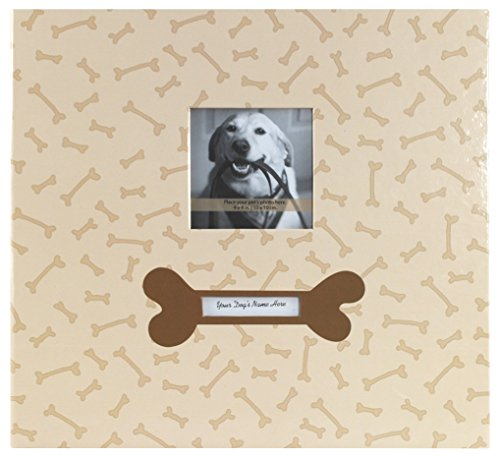MBI 13.2x12.5 Inch Bold Fashion Collection 12x12 Inch Pages, Dog with Photo Opening -