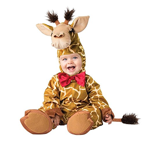 Unisex Kids Baby Halloween Romper Pajamas Cosplay Costume Animal Sleepwear (10-12m, giraffe)