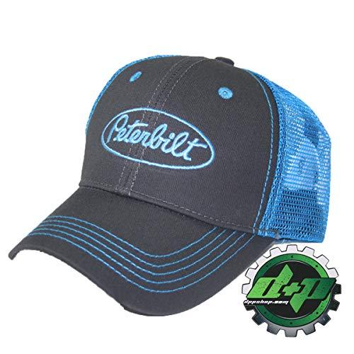 Diesel Power Plus Peterbilt Electric Blue Summer mesh Back Cap hat pete