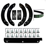 Genuine Honda HS520 Snow thrower paddle, scraper bar and belt set/kit, 06720-v10-030, 76322-v10-020, 22431-v10-013