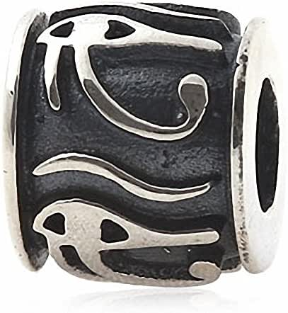 Eye of Horus Egyptian Symbol of Protection, Royal Power and Good Health 925 Sterling Silver Bead Fits European Bracelets