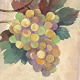 Paperproducts Design ''Wine Country Grapes White'' Paper Cocktail/Beverage Napkins, Multicolor