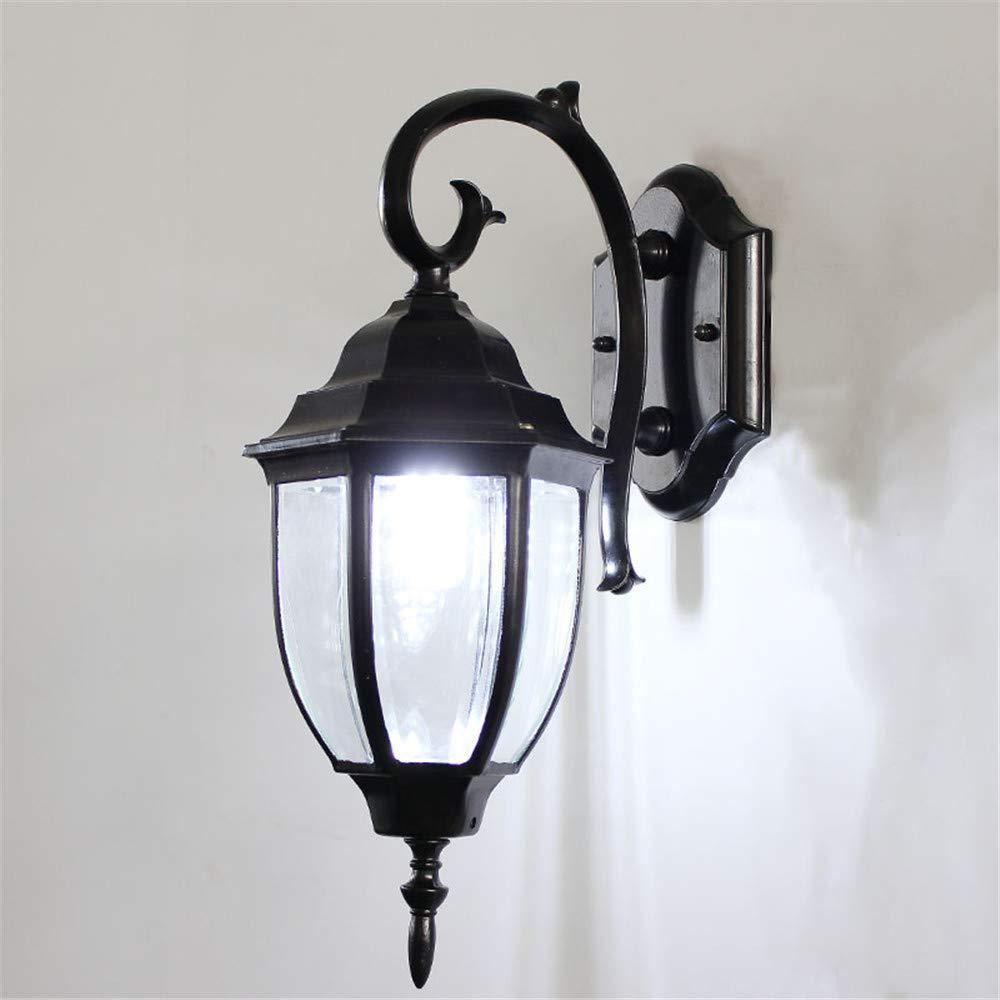 HRCxue Lampade da parete Lampada da parete per esterni impermeabile retro lampada da parete del giardino lampada a sospensione a prova di corrosione
