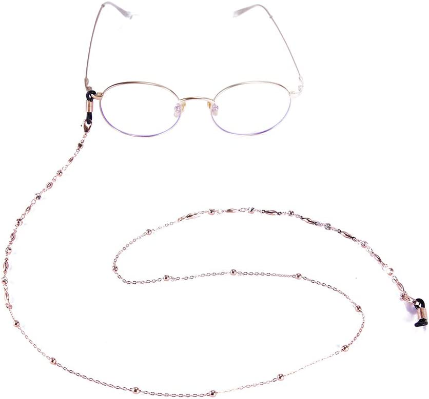 VASSAGO Women Beads Link Eyeglasses Chain with Adjustable Buckle Glasses Rope Holder Sunglasses Strap Cord Neck Band Accessories