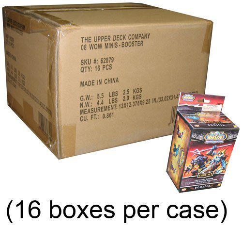 16-BOX CASE - World of Warcraft Minis Game Core Set Boosters - 48 figures ()