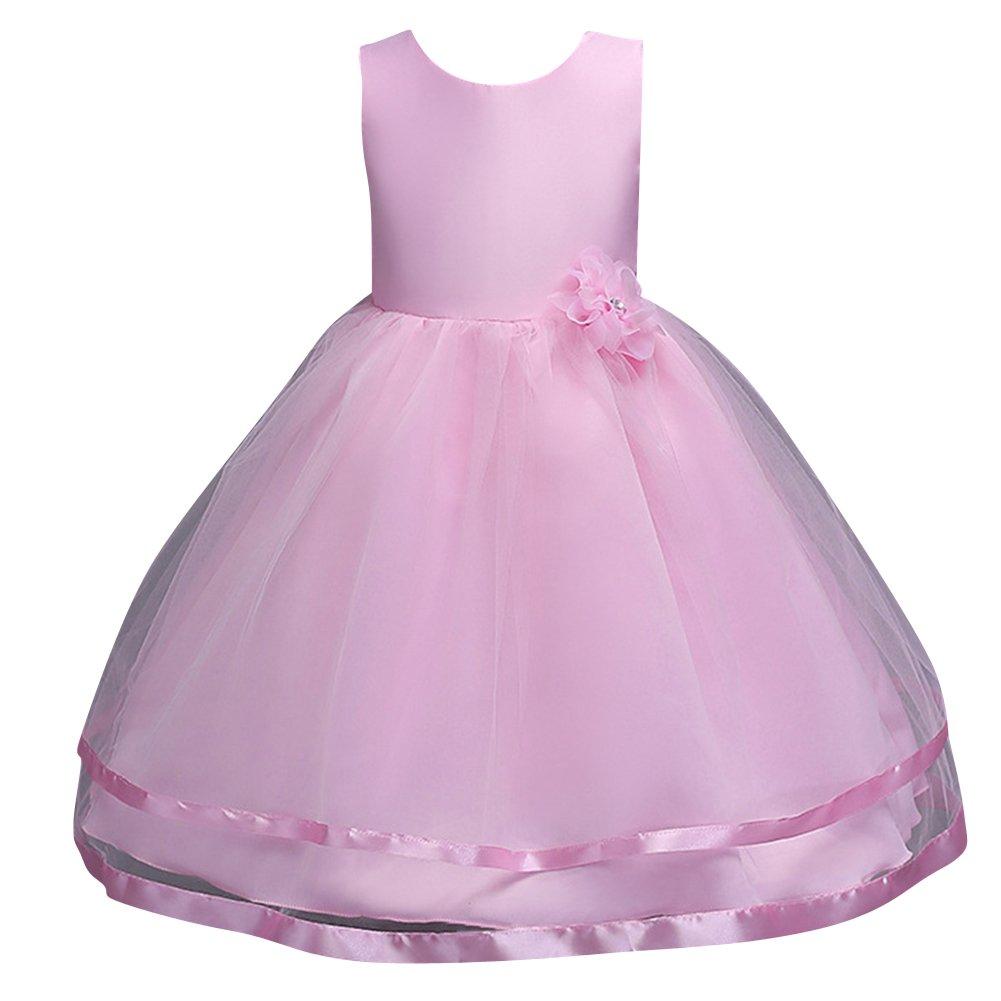 Qitun Vestidos De Princesa Elegante Para Bébes Y Niñas Organza ...