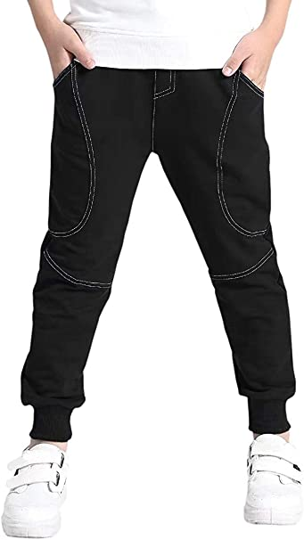 Joggers for Boys I Am A Boy Boys Joggers Pants//Athletic Pants Comfortable Cotton Sweatpants