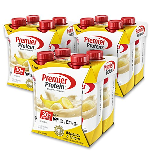 Premier Protein 30g Protein Shake, Bananas & Cream, 11 fl oz Bottle, (12 Count)