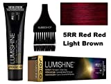 Joico LUMISHINE Repair+ PERMANENT Creme Hair Color (with Sleek Applicator Brush) Cream Haircolor (5RR Red Red Light Brown)