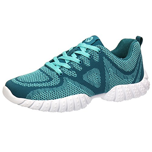 Knit Athletic Running Shoes Green 10.5 D(M) US (Cross Trainers Gym)