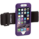 TuneBand for iPhone 6/6S (NOT FOR LARGER PLUS MODELS), Premium Sports Armband with Two Straps and Two Screen Protectors, PURPLE