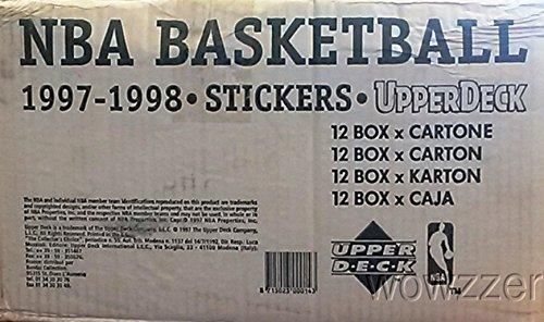 Upper Deck 1997/98 UD NBA Basketball Sticker CASE with 12...