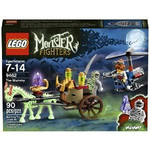 Toy / Game Awesome LEGO Monster Fighters 9462 The Mummy With 2 Minifigures, Ghostly Chariot And Cool Helicopter