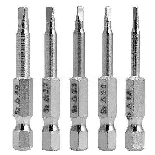 Rocaris 5 Pieces in One Set Magnetic Triangle Head Screwdriver Bits S2 Steel 1/4 Hex Shank 50mm ()