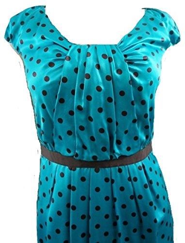 L.K BENNETTDamen Kleid, Gepunktet Blau Blau