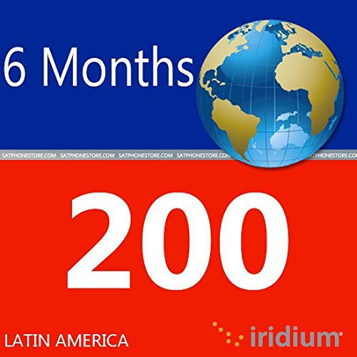 Iridium Satellite Phone Latin America Prepaid SIM Card with 200 Minutes (180 Day Validity) by iridium