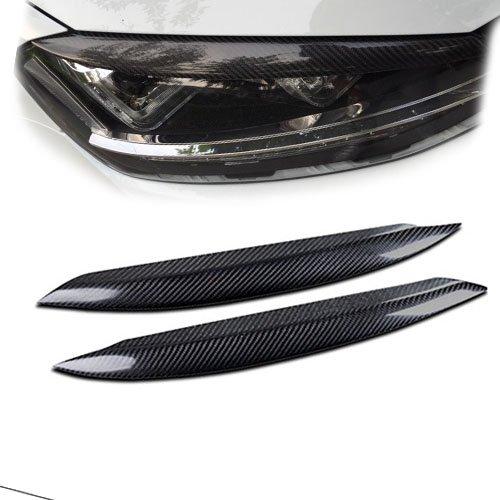 Fibre de carbone sourcils Paupiè res de phares couvertures B # car-wear