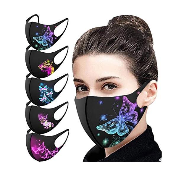 5-Stck-Mundbedeckung-schwarz-Unisex-3D-Atmungsaktiv-Waschbar-Bedeckung-Gesicht-Mund-Nasen-Bedeckung-stoff-Feiner-Weihnachts-Halloween-Druck
