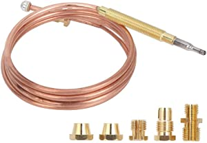 Water Heater Pilot Assembly Gas thermocouple, Fireplace thermocouple, Gas Stove for Water Heater for electromagnetic Cooker Universal