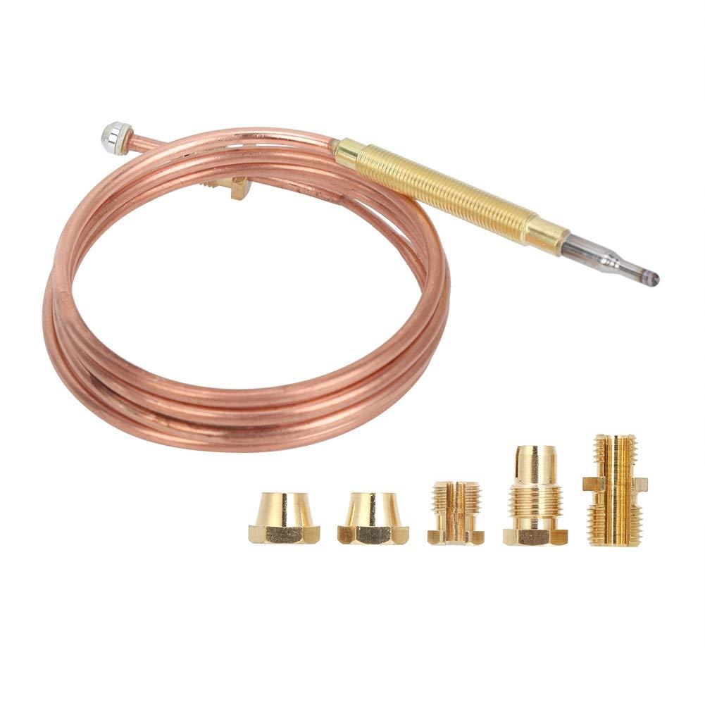 Termopares, estufa de gas Adaptadores de kit de reemplazo de chimenea de termopar universal para cocina de inducción, estufa de gas, dispositivo de calentamiento