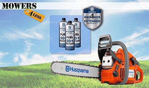 [해외]Husqvarna 445 18 Chainsaw + 3 Cans Premix / Husqvarna 445 18 Chainsaw + 3 Cans Premix
