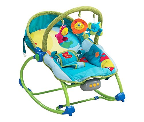 LuvLap Animal Kingdom Newborn to Toddler Portable Rocker cum Bouncer