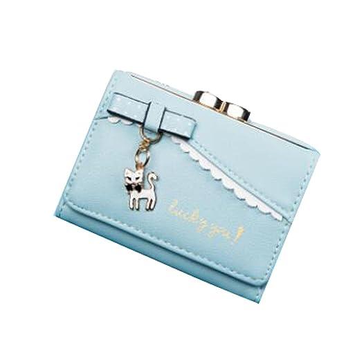 CN BRO Bolso dulce del monedero de las señoras de la cartera del gato pequeño de la manera de las señoras: Amazon.es: Zapatos y complementos