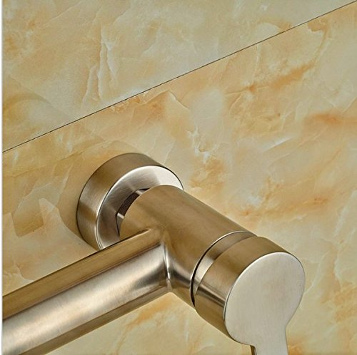 GOWE Single Lever Bathroom Shower Set Bath 10-in Shower Faucet With Hand Shower Wall Mounted 4