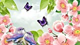 Flowers, Butterflies & Birds Spring Edible Icing Image 1/4 Sheet