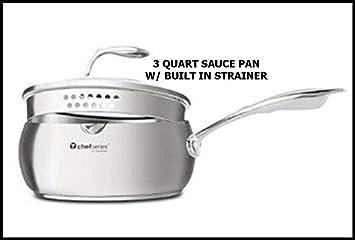 Tupperware Chef Series 3 Qt Saucepan W/strainer Lid NEW by Tupperware: Amazon.es: Hogar