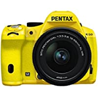 Pentax K-50 16MP Digital SLR Camera 3-Inch LCD with 18-55mm f/3.5-5.6 WR Lens (Yellow)
