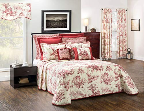 (Thomasville Bouvier Red Bedspread (King (120x118)))