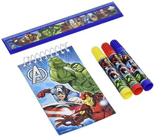 Exciting Marvel Avengers Stationery Set Birthday Party Favour, Paper , Pack of 5 (Avengers Party Favours)