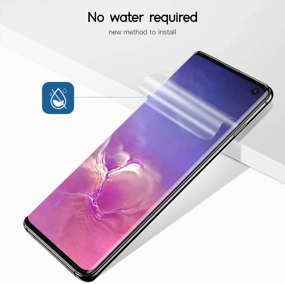 Samsung Galaxy S10 TPU Screen Protector,3 Pack TPU Screen Protector 2 Pack Tempered Glass Camera Lens,Compatible with Galaxy S10,Curved Coverage,Bubble Free,Anti-Scratch Flexible Clear TPU Film by SYF