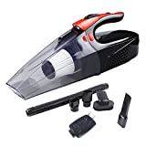 Cordless Handheld Vacuum Cleaner - Rechargeable Car Vacuum Cleaner High Power 4Kpa Strong Suction Wet/Dry Handheld Auto Vehicle Cleaner 7800mAh With Bright Led Light - Black&Orange