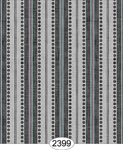 Dollhouse Wallpaper Annabelle Ribbon Stripe Black