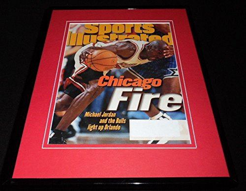 7d28601039bbc Michael Jordan Framed ORIGINAL 1996 Sports Illustrated Cover Bulls ...