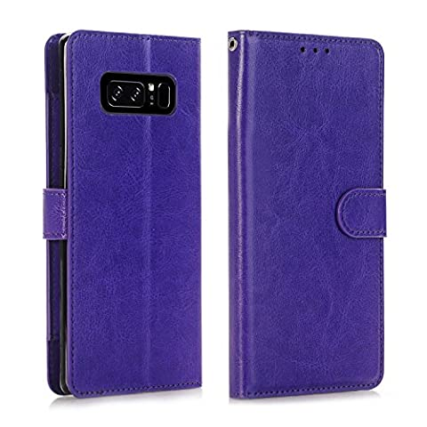 Galaxy Note 8 Case, Asstar Luxury Magnetic PU Leather Wallet Flip Credit Card Slot Holder Shock Absorption Anti-Scratch Protective Case for Samsung Galaxy Note 8 2017 (Otterbox Privacy Screen Iphone 5)