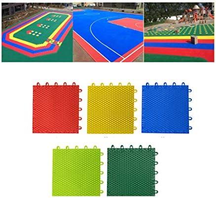 Myself-Plastic splicing floor Gymnastikmatte zum Aufhängen, Kunststoff, ineinandergreifend, geeignet für Kindergarten, Park, Spielplatz, Garten, Mehrfarbig, 25 x 25 x 1,3 cm