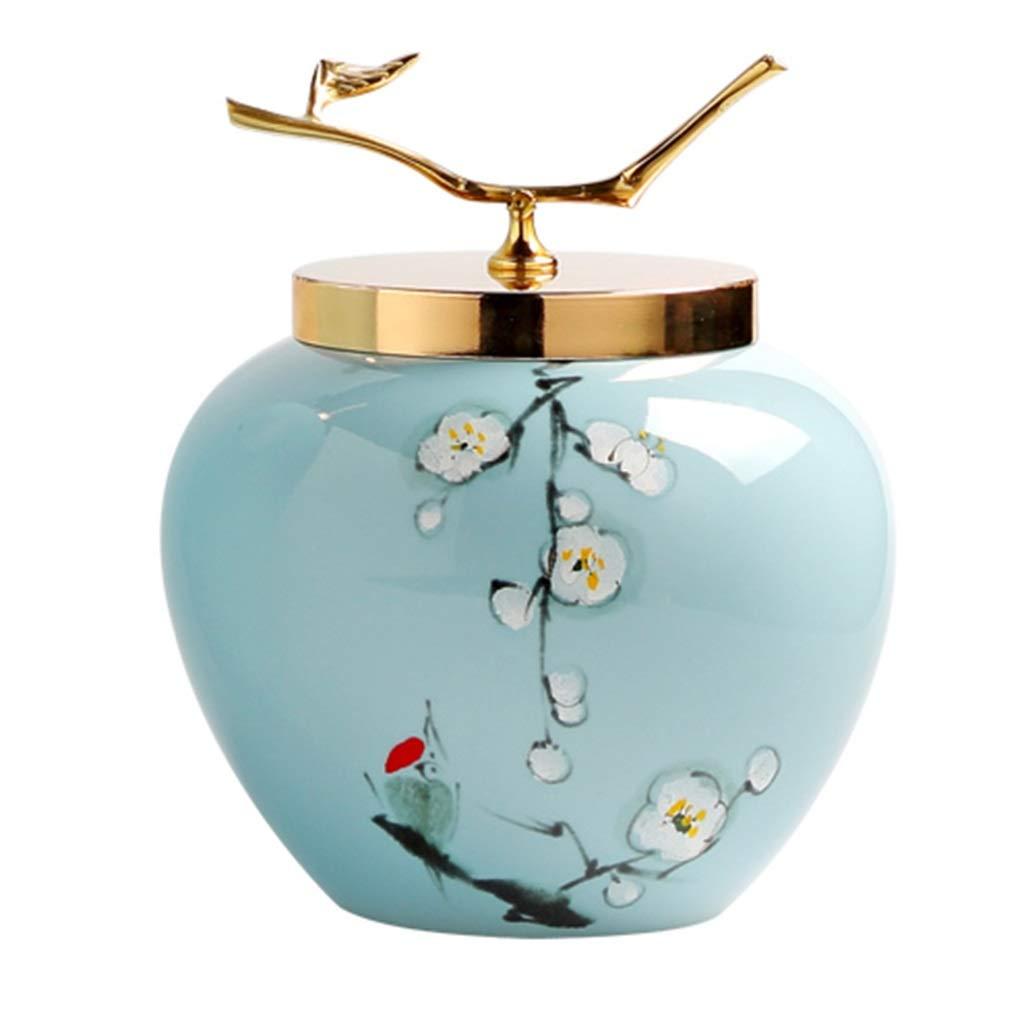 花瓶クリエイティブセラミック花瓶リビングルーム家の装飾装飾花瓶 (Color : BLUE, Size : SMALL) B07RWDPHPR BLUE Small