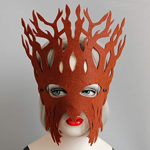 Party Masks - Children Party Mask Christmas Halloween Big Tree Felt Masks Vintage Coffee Face Fashion Cosplay - Children Vintage Party Masks Toys Mask -