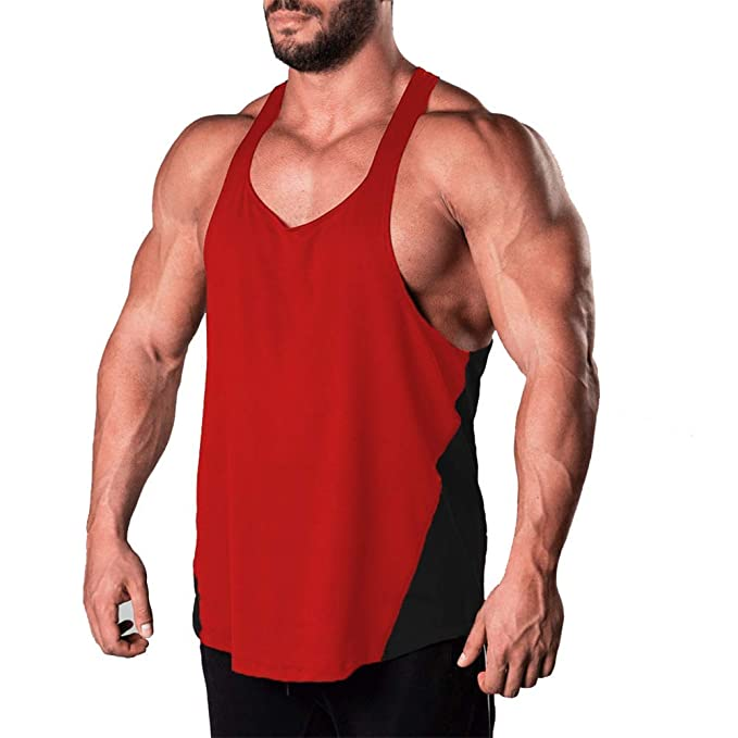 Men Muscle Bodybuilding Sleeveless Shirt Tank Top Gym Singlet Fitness Sport Vest