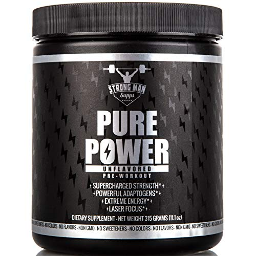 Pre Workout Powder for Men & Women: Pure Power All Natural Preworkout Supplement for Keto, Vegan or Paleo Diets - Thermogenic Pre Work Out for Healthy Pump, Weight Loss & Energy - 315g, Unflavored