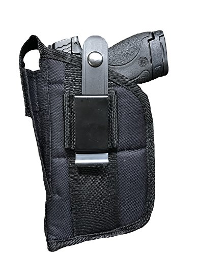 Nylon Belt or Clip on Gun Holster Fits BABY DESERT EAGLE 9MM, .40 S&W, .45 ACP WITH LASER