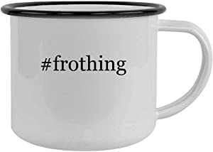 #frothing - 12oz Hashtag Camping Mug Stainless Steel, Black
