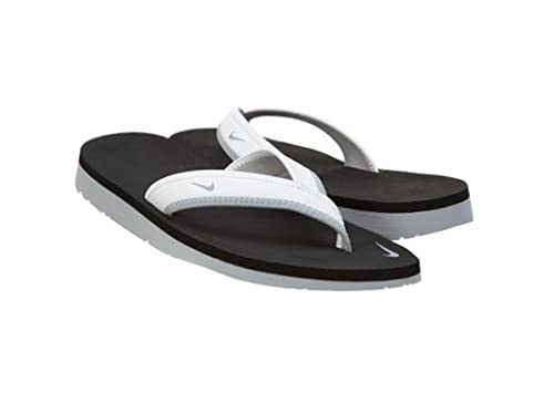 de5c614e490 Nike Womens Celso Girl Thong Sandal White Black Wolf Grey 9  Amazon.in   Shoes   Handbags