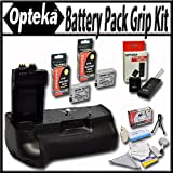 Opteka Battery Pack Grip / Vertical Shutter Release for Canon EOS Rebel T2i T3i T4i T5i 550D 600D 650D 700D Kiss X4 X5 X6 X6i X7i DSLR Digital Camera with 2 Extra LP-E8 Extended Life High Capacity Batteries, Wireless Radio Remote and Lens Cleaning Kit