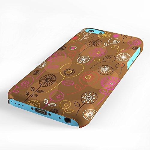 Koveru Back Cover Case for Apple iPhone 5C - Brown Floral