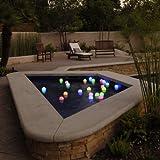 Set of 12 Mood Light Garden Deco Balls- Battery