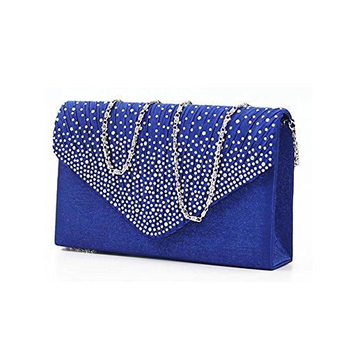 - Groupcow Ladies Evening Handbags Bridal Wedding Bag Handbag (Royal Blue) Large